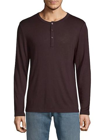 Pure Navy Casual Long-sleeve Henley