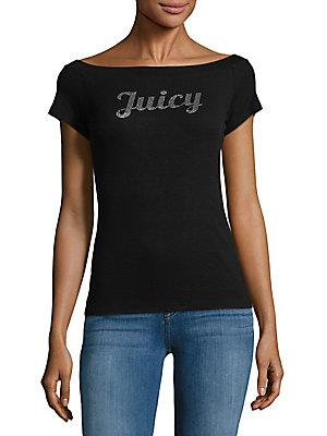 Juicy Couture Black Label Logo Boatneck Top