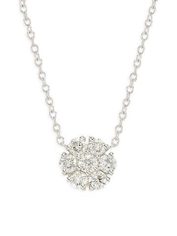 Diana M Jewels 14k White Gold Diamond Pendant Necklace