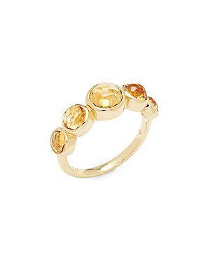 Ippolita Lollipop 18k Yellow Gold & Orange Citrine Ring