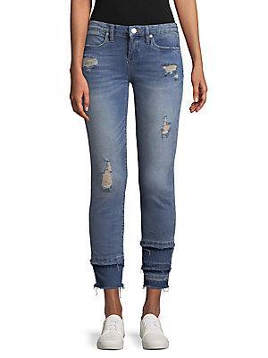 Blanknyc Distressed Paneled Jeans