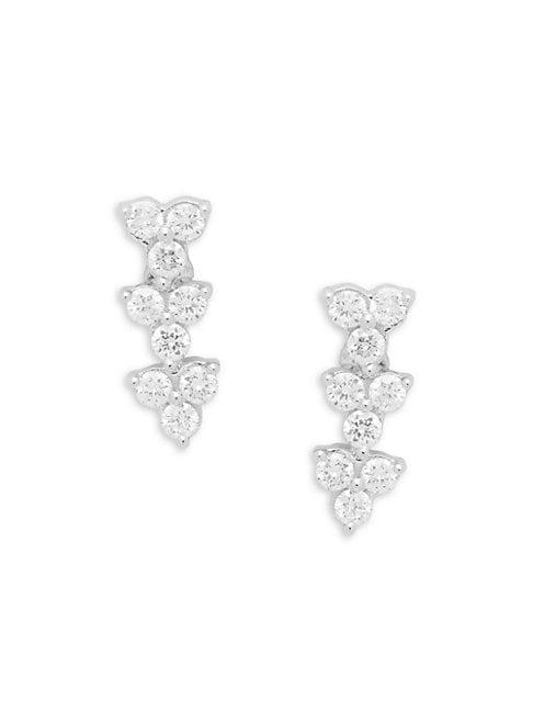 Hueb 18k White Gold & Diamond Drop Earrings