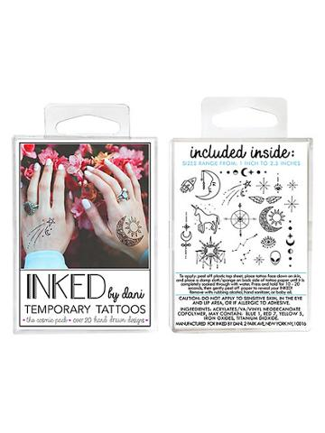Inked By Dani Temporary Tattoos Cosmic Pack