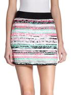 Milly Couture Stripe Mini Skirt