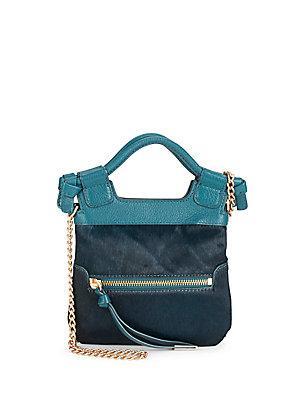 Foley + Corinna Tiny City Leather Crossbody Bag