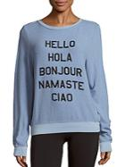 Wildfox Hello World Graphic Sweater