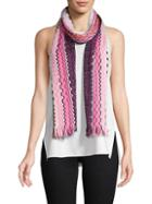 Missoni Multicolored Frayed Scarf