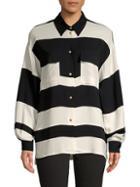 Lanvin Colorblock Button-down Shirt