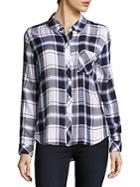 Rails Hunter Semi-spread Collar Plaid Shirt