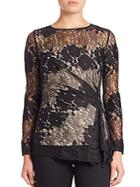 Natori Ruched Lace Top