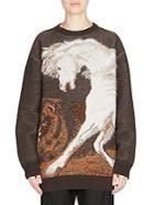 Stella Mccartney Long-sleeve Horse-print Sweater