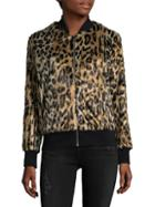 Love Token Faux Fur Animal-print Jacket