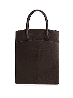 Hermes Brown Chevre White Bus Up Handbag