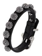 A.b.s. By Allen Schwartz Leather Wrap Cuff With Pave