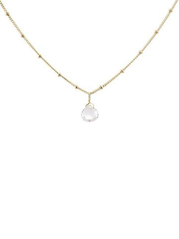 Meira T 14k Yellow Gold & White Topaz Pendant Necklace