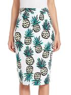 Milly Pineapple Print Pencil Skirt