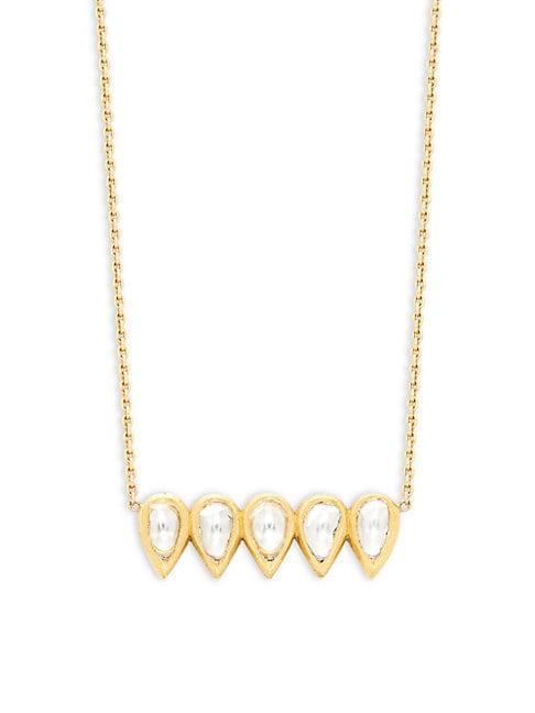 Amrapali 18k Yellow Gold & Diamond Necklace