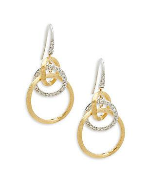 Marco Bicego Jaipur Diamond And 18k Gold Drop Earrings