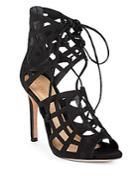 Schutz Blake Suede Stiletto Sandals