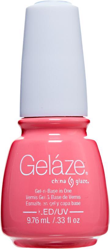 China Glaze Gelaze Neons Shocking Pink