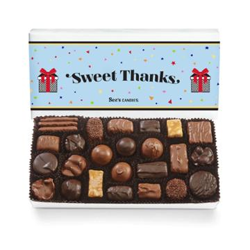 See's Candies Festive Thank You Assorted Chocolates - 1 Lb