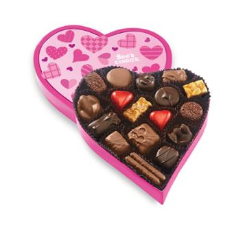 See's Candies Pink Wishes Heart - 10.6 Oz