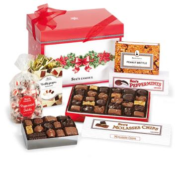 See's Candies Boughs Of Holly Gift Pack - 3 Lb 12 Oz