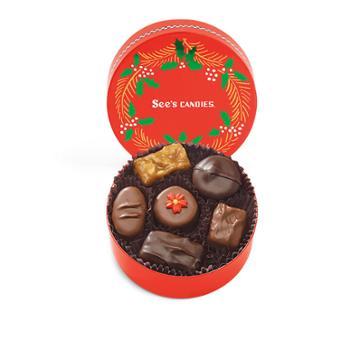 See's Candies Mini Holly Wreath - 3.8 Oz