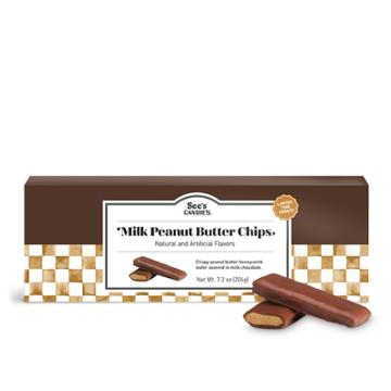 See's Candies Milk Peanut Butter Chips - 7.2 Oz