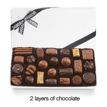 See's Candies Assorted Chocolates With Black & White Bow - 2 Lb