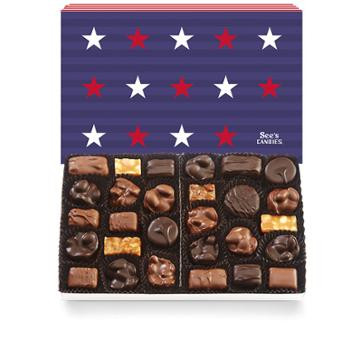 See's Candies Stars & Stripes Nuts & Chews - 2 Lb