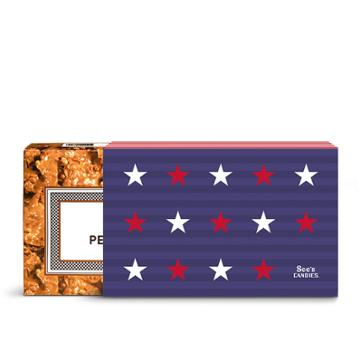 See's Candies Stars & Stripes Peanut Brittle - 1 Lb 8 Oz