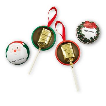 See's Candies Christmas Lollypops - 6 Pack