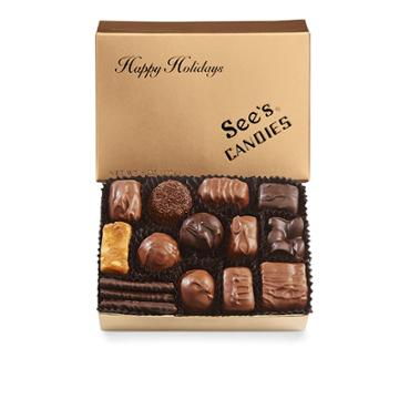 See's Candies Happy Holidays Box - 8 Oz