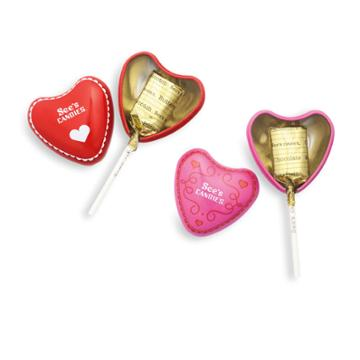 See's Candies Happy Valentine's Day Lollypops - 6 Pack