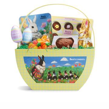 See's Candies Easter Favorites Basket - 1 Lb 3 Oz