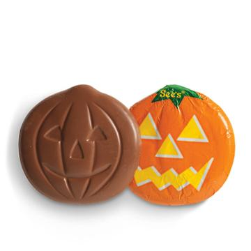 See's Candies Milk Chocolate Jack-o'-lanterns - 6 Pack