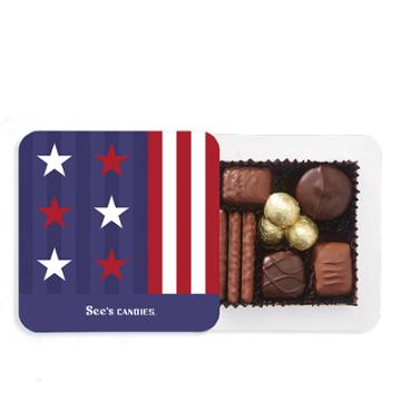 See's Candies Stars & Stripes Box - 4 Oz