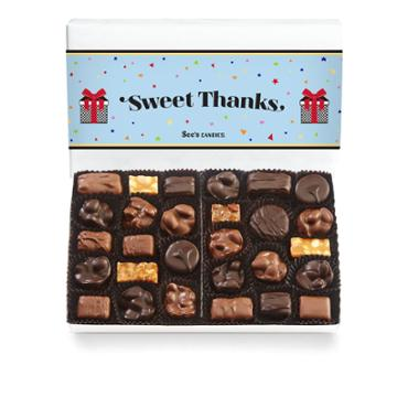 See's Candies Festive Thank You Nuts & Chews - 1 Lb