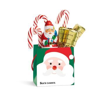 See's Candies Santa Tote - 4.9 Oz
