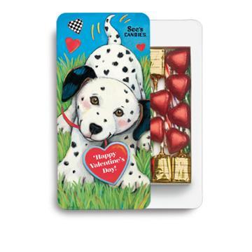 See's Candies Dalmation & Hearts Box - 7.5 Oz
