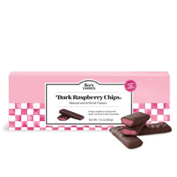 See's Candies Dark Raspberry Chips - 7.2 Oz