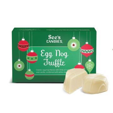 See's Candies Egg Nog Truffles - 4 Oz