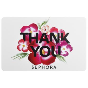 Sephora Collection Thank You Gift Card $200