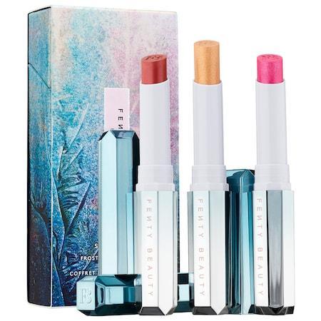 Fenty Beauty By Rihanna Frosted Metal Lipstick Set Snow Daze 3 X 0.65 Oz/ 1.9 G