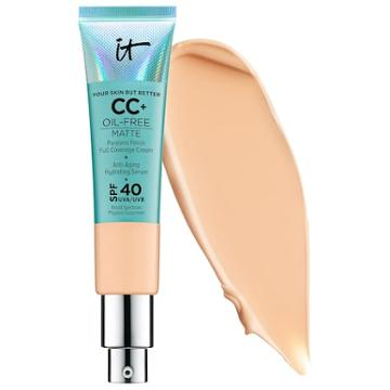 It Cosmetics Your Skin But Better Cc+ Cream Oil-free Matte With Spf 40 Medium 1.08 Oz/ 32 Ml