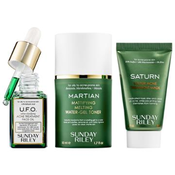 Sunday Riley Space Race Fight Acne, Oil & Pores Kit