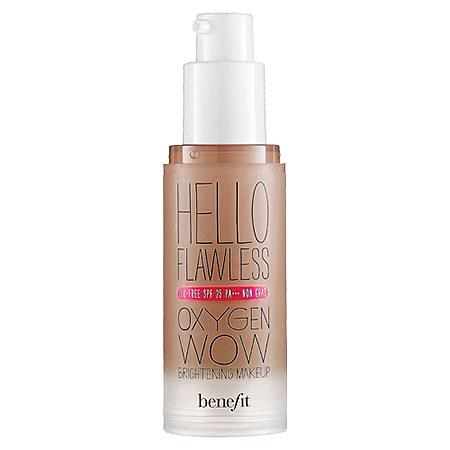 Benefit Cosmetics 'hello Flawless!' Oxygen Wow Liquid Foundation 'i'm Hopelessly Hot' Hazelnut 1 Oz