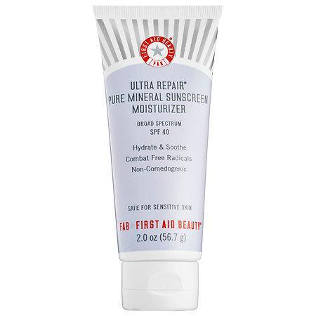 First Aid Beauty Ultra Repair(r) Pure Mineral Sunscreen Moisturizer Broad Spectrum Spf 40 2 Oz