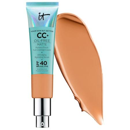 It Cosmetics Your Skin But Better Cc+ Cream Oil-free Matte With Spf 40 Tan 1.08 Oz/ 32 Ml